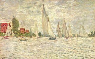 Les barques. Régates à Argenteuil