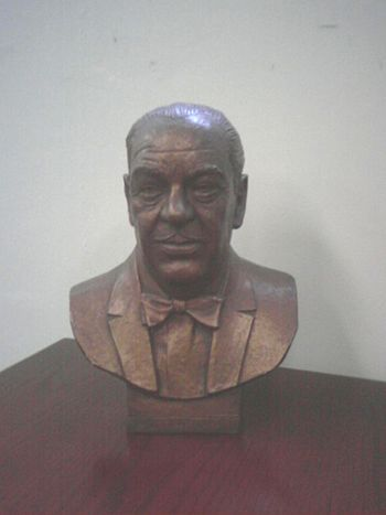 English: Bust of Clement Stone, taken at the C...