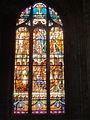 Clermont (60), église Saint-Samson, vitrail n° 16 - scènes de la vie de Saint Louis.JPG