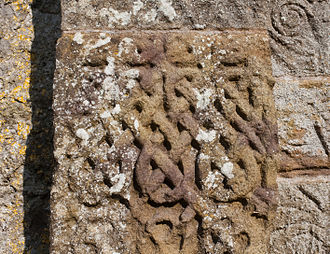 Clonfert Cathedral Portal Left Jamb Interlace Pattern Clonfert Cathedral Portal Left Jamb Interlace Pattern 2009 09 17.jpg