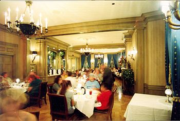 Club 33 dining room