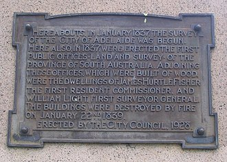 Light's Vision - Image: Cnr N&W Tce plaque