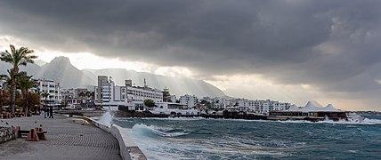 Coast with Dome Hotel, Kyrenia, Northern Cyprus 03.jpg