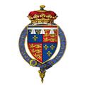 Coat of arms of Henry Tudor, Duke of York, KG (Later King Henry VIII).png