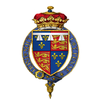 Coat of arms of Henry Tudor, Duke of York, KG (Later King Henry VIII).png