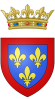 Description de l'image  Coat of arms of Louis, Duke of Anjou (future Louis XV of France).png.