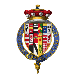 Edward Hastings, 1st Baron Hastings of Loughborough - Arms of Sir Edward Hastings, 1st Baron Hastings of Loughborough, KG
