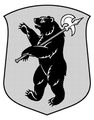 Coat of arms of Yaroslavl Oblast (only escutcheon, monochrome) 03.png