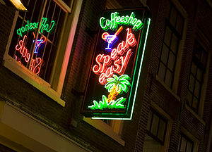 Drug policy of the Netherlands - Cannabis coffee shop in Amsterdam, Netherlands