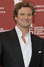 Photo of Colin Firth at the 2009 Venice Film Festival.