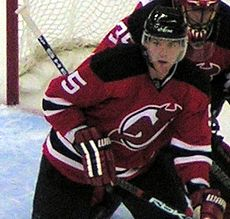 bfc44115821 Colin White during his tenure with the New Jersey Devils