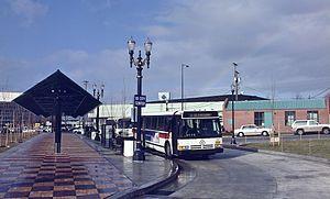 Rose Quarter Transit Center - Coliseum TC in 1991, before creation of the Rose Quarter
