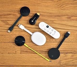 Chromecast Line of digital media players developed by Google
