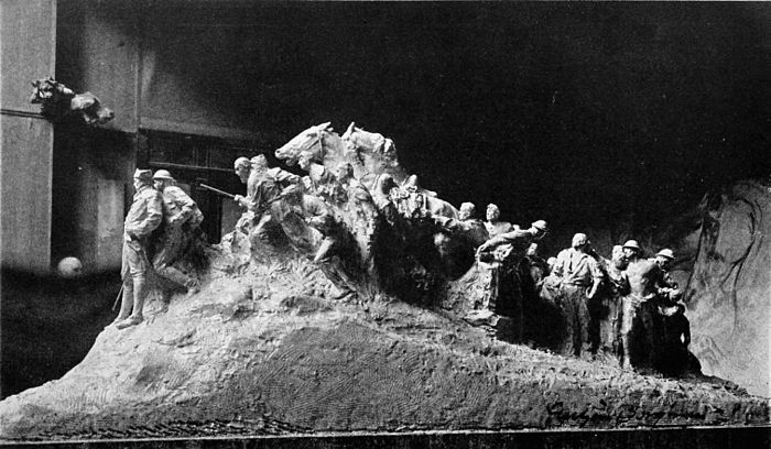 Collier's 1921 World War - model for the wars of America by Gutzon Borglum.jpg