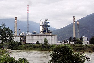 Collombey-Muraz - Tamoil's oil refinery in Collombey