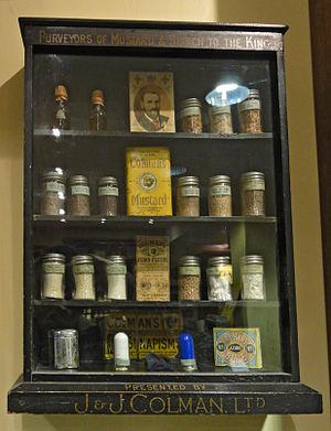 Colman's (brand) - Image: Colman's school display cabinet
