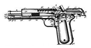Colt M1902 - Colt M1902 patent drawing.