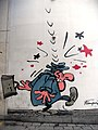 Comic wall Gaston Laggaffe by André Franquin. Brussels.jpg
