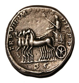 Commodus - A Denarius featuring Commodus
