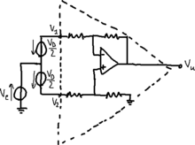 Common and differential modes in an amplifier.png