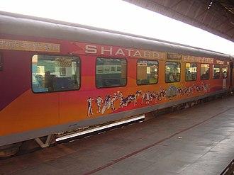 Shatabdi Express - Image: Commonwealth Games livery coach of 12018 Dehradun Shatabdi Express
