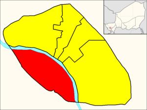 Commune V (Niamey) - Image: Commune V (Niamey Map)