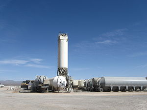 Spaceport America - Concrete plant on site for paving of the runway.