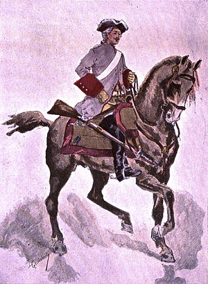 2nd Dragoon Regiment (France) - A cavalier of the Condé-Cavalerie in 1724