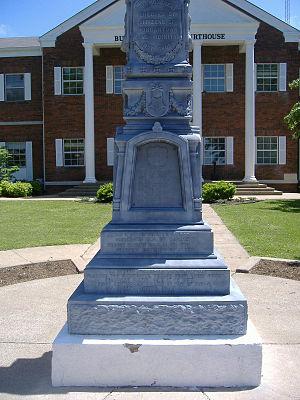 Confederate-Union Veterans' Monument in Morgantown - Image: Confederate Union Veterans' Monument in Morgantown closeup