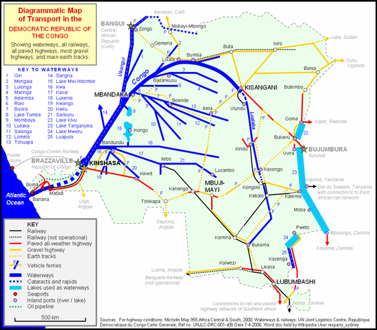 Transport in the Democratic Republic of the Congo - Wikipedia