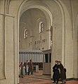 Constantin Hansen, Parti af det indvendige af Ringsted Kirke. I forgrunden Constantin Hansen og Jørgen Roed, 1829, KMS3678, SMK.jpg