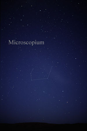 Microscopium - The constellation Microscopium as it can be seen by the naked eye.