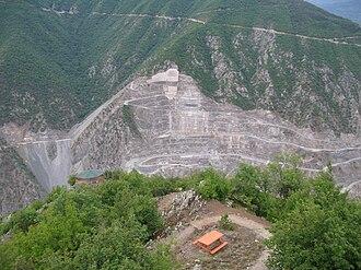 Deriner Dam - The dam under construction in 2009