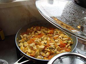 Bhutanese cuisine - Image: Cooking jasha maroo
