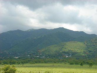 "Guayama, Puerto Rico - View of Guayama looking towards the ""Cordillera Central"" and Bosque de Carite."