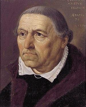 Cornelis Musius - Anonymous portrait of Cornelis Musius at the age of 70, Dutch School.