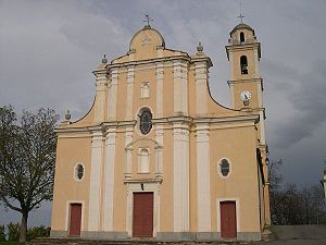 Campile, Haute-Corse - The church of Saint-Pierre and Saint-Paul, in Campile