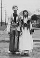 Costumed couple at Mardi Gras in New Orleans in 1937.jpg