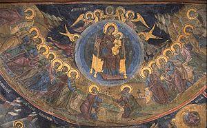 Cozia Monastery - Mural painting from the Cozia Monastery