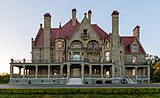 Craigdarroch Castle just after sunset - view from the south, Victoria, Canada 01.jpg