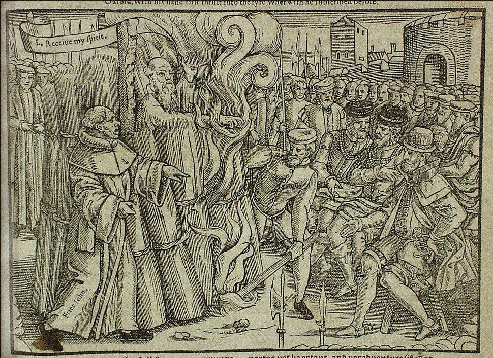 Cranmer burning foxe