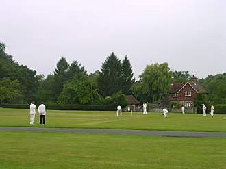 Ebernoe - Image: Cricket on Horn Fair day