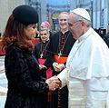 Cristina Fernandez de Kirchner with Franciscus 19032013 1.jpg