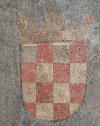 Croatian nationalism - An early version of the Croatian šahovnica as the coat of arms of the Kingdom of Croatia in 1495.
