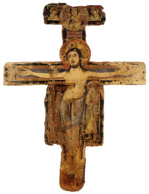 Crocifisso di Sant'Antimo, 1190 circa, tempera su tavola, Musei riuniti, Montalcino