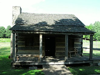 Davy Crockett - Replica cabin at Crockett birth site.