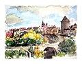 Croquis aquarellé- Semur en Auxois - France (8273221002).jpg