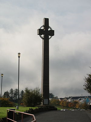 Pope John Paul II's visit to Ireland - Cross at Knock, Ireland a site which John Paul II officially recognized in 1979