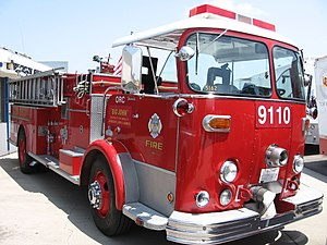 Crown Firecoach - Crown Firecoach 9110 of Orange County Fire Authority (retired)