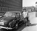 Családi fotó, 1959. Skoda Octavia személygépkocsi. Fortepan 22530.jpg
